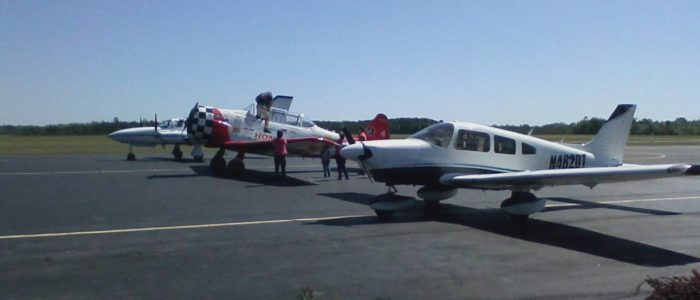 T-6 on the ramp at Statesboro