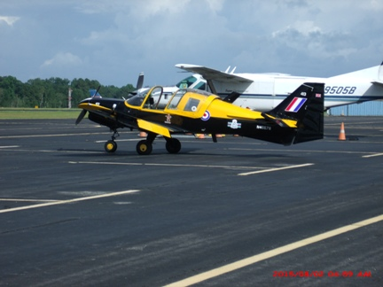 This aircraft flew in for the Get-together.  Looks like fun